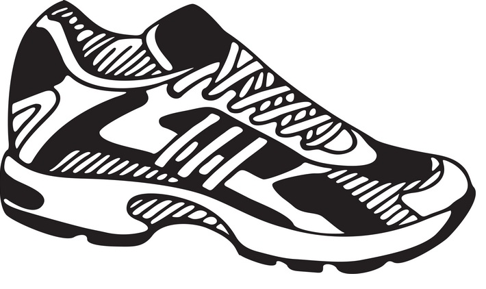 Track shoe with wings 0 clip art image