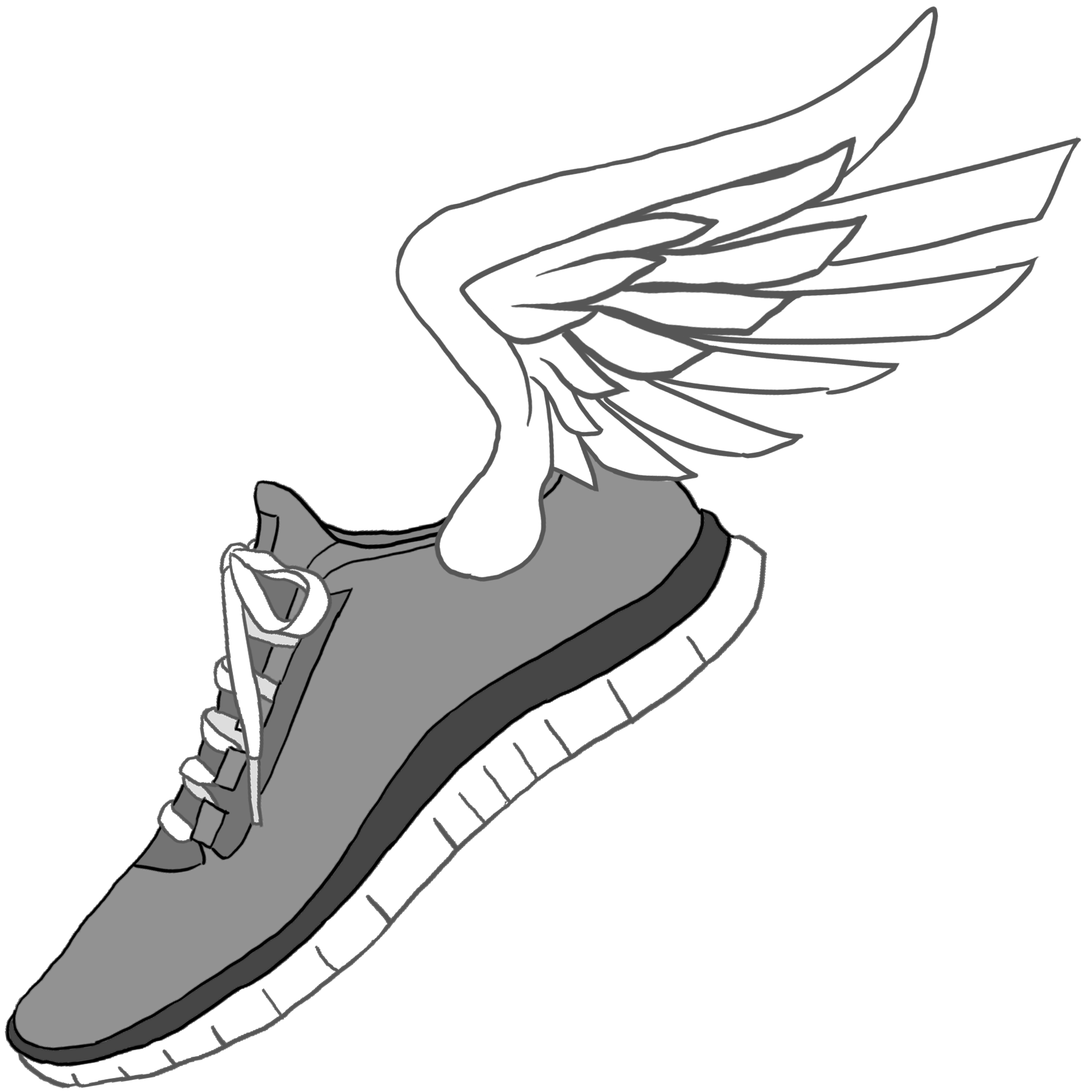 Track shoe with wings 6 clip art image