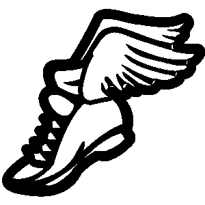 Track shoe with wings clip art