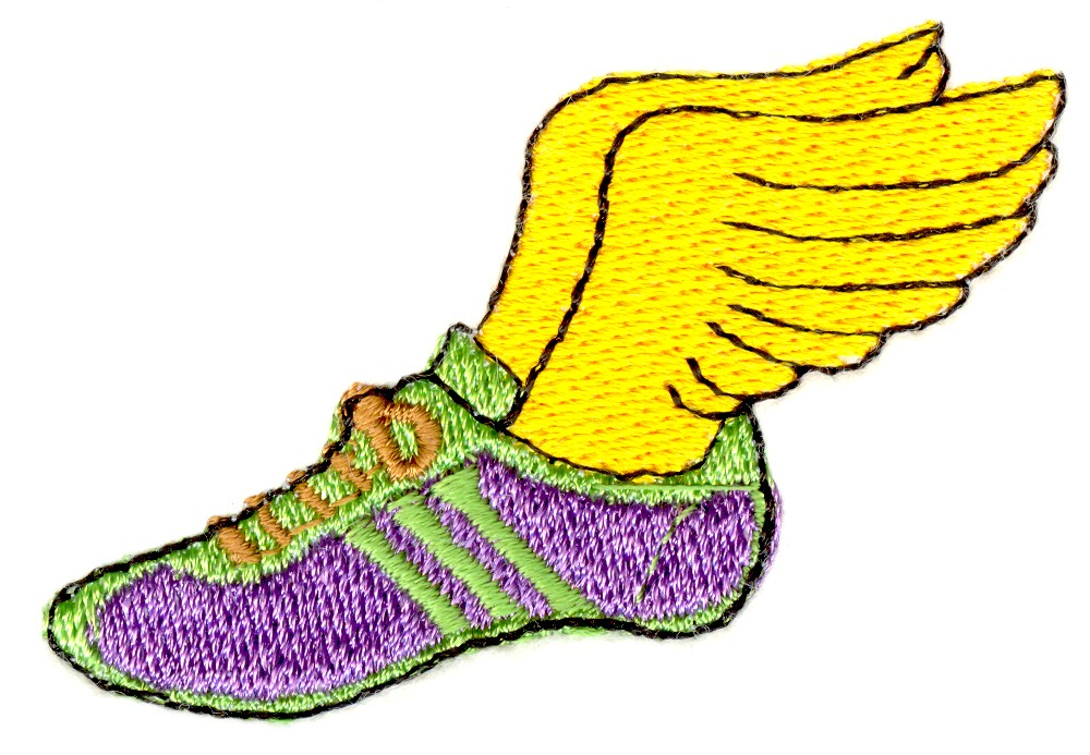 Track shoe with wings clipart 5