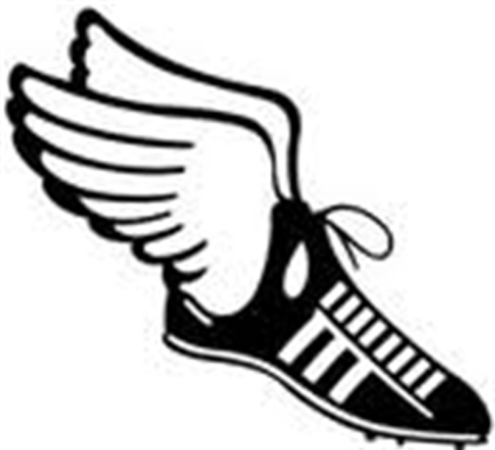 Track shoes clip art clipart image
