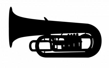 Tuba goofy music clipart image