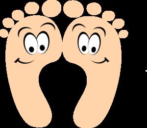 Walking feet bare feet walking clipart