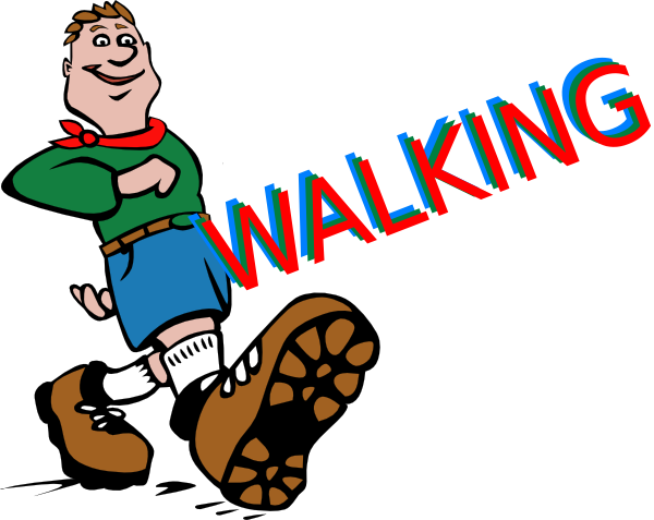 Walking feet clip art 3