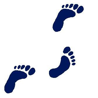 Walking feet clip art 4