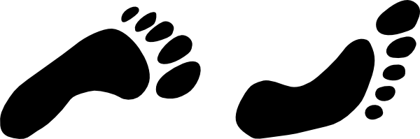 Walking feet clip art 9