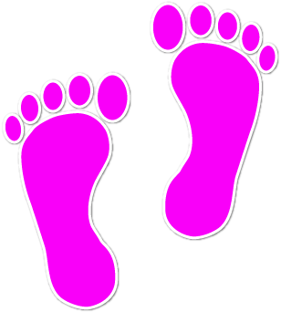 Walking feet clip art dfiles