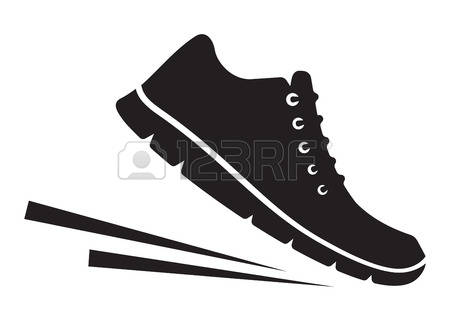 Walking feet feet running clipart