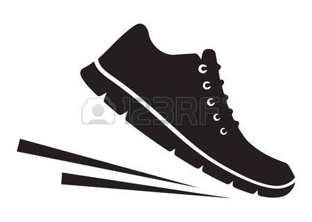 Walking feet feet running clipart