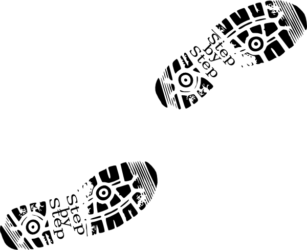Walking feet walking shoes clip art at vector clip art