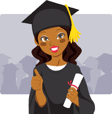 African american graduation clipart
