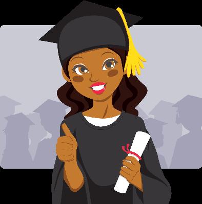 African american graduation clipart