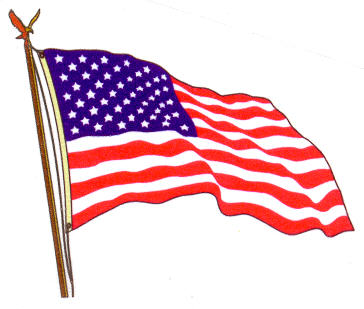 American flag clip art 3