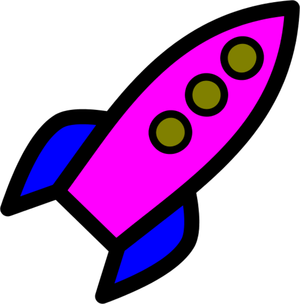 Animated rocket clipart