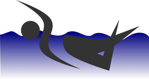 Athlete swimming clip art 3