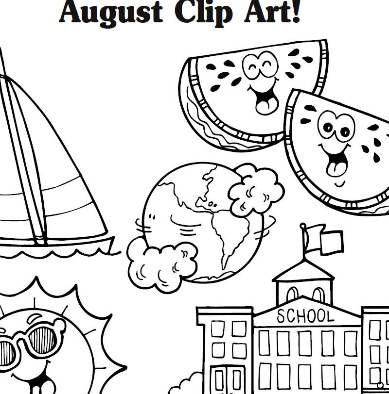 August clipart 14
