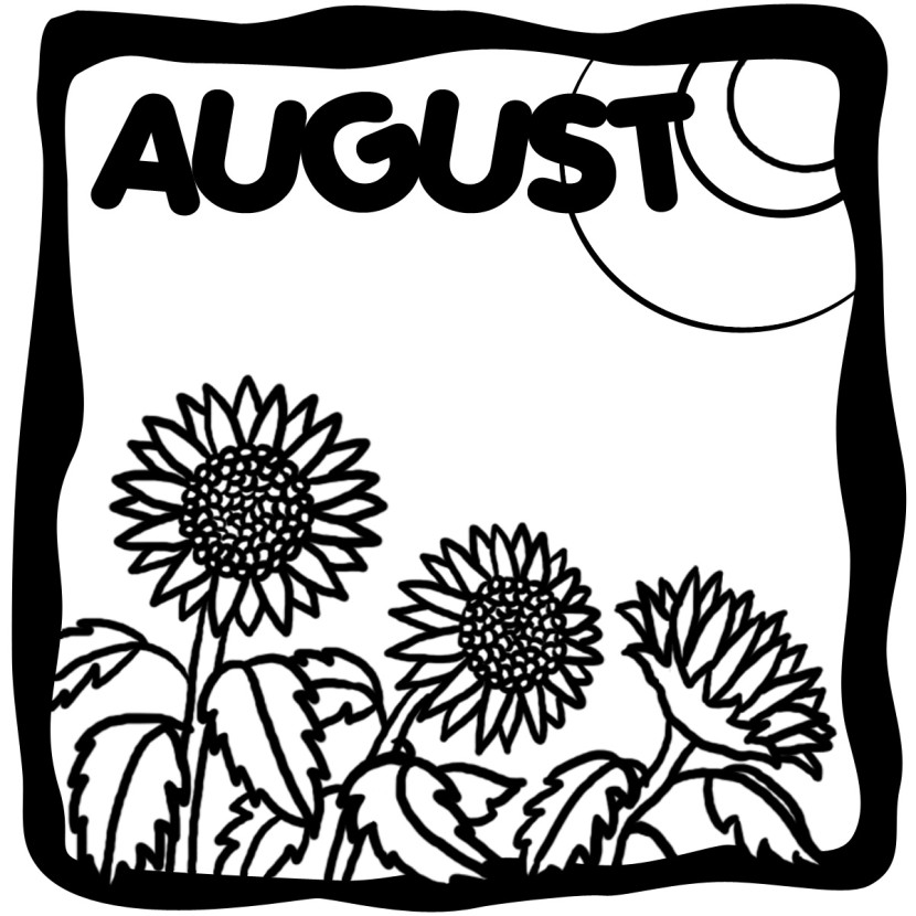 August clipart 9