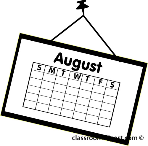 August clipart free clip art images 2 image 2