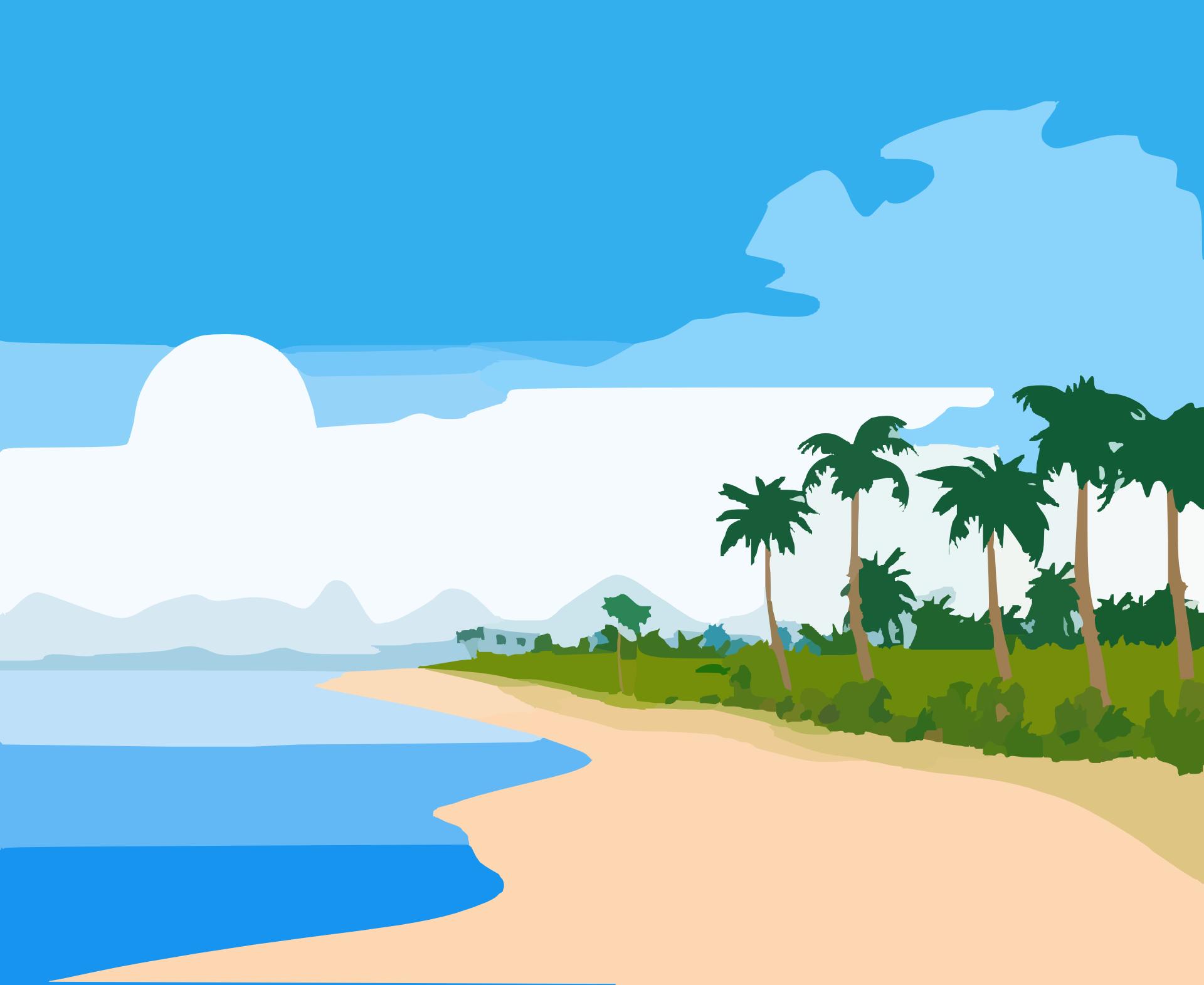 Beach island clipart