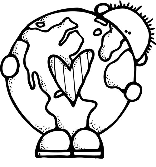 Black and white earth clipart clipartfest