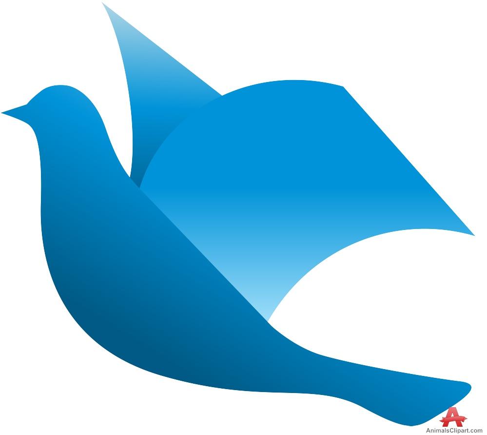 Blue dove clipart free design download