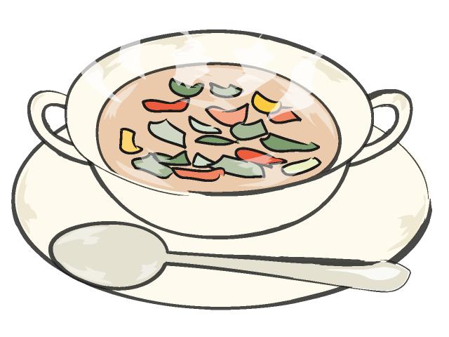 Bowl of soup clipart
