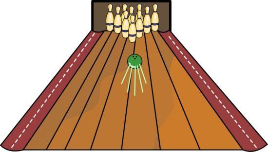Bowling lane clipart