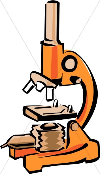 Bright orange microscope christian clipart