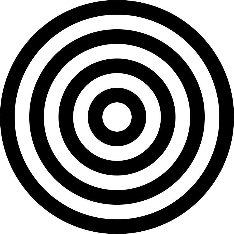 Bullseye black and white clipart china cps