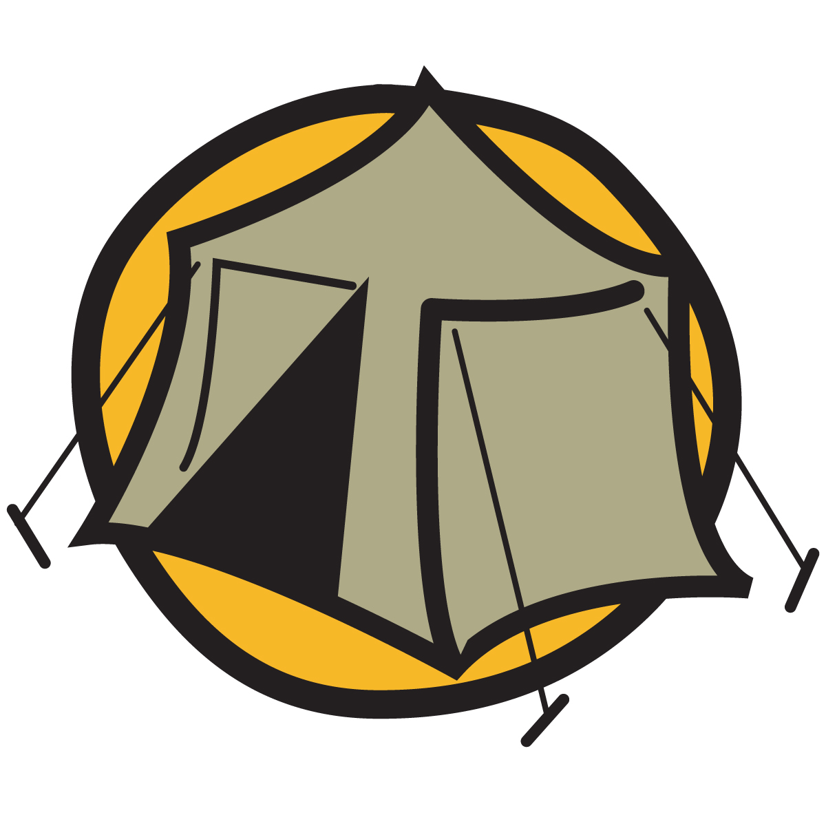 Camping clipart free images 3