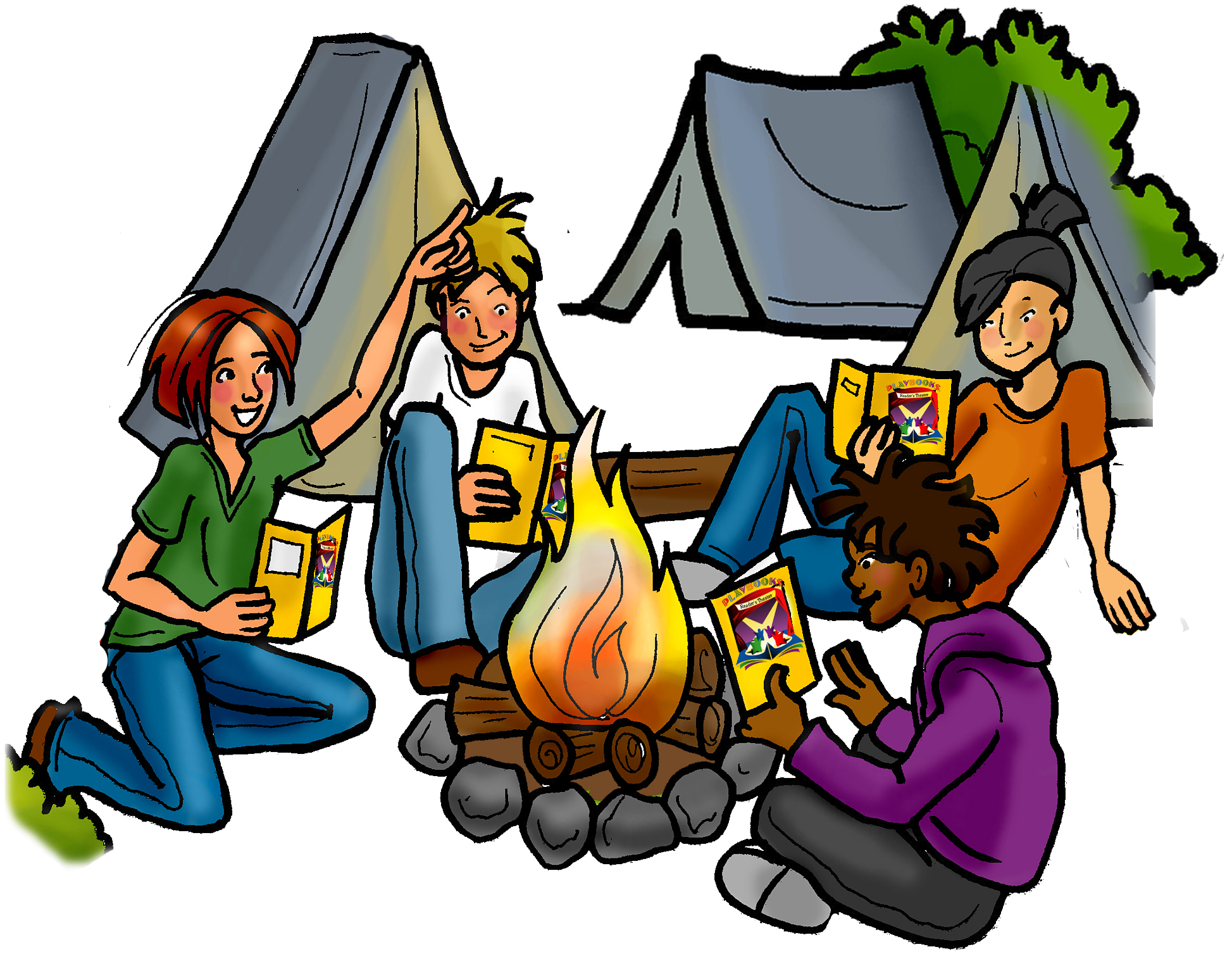Camping clipart free