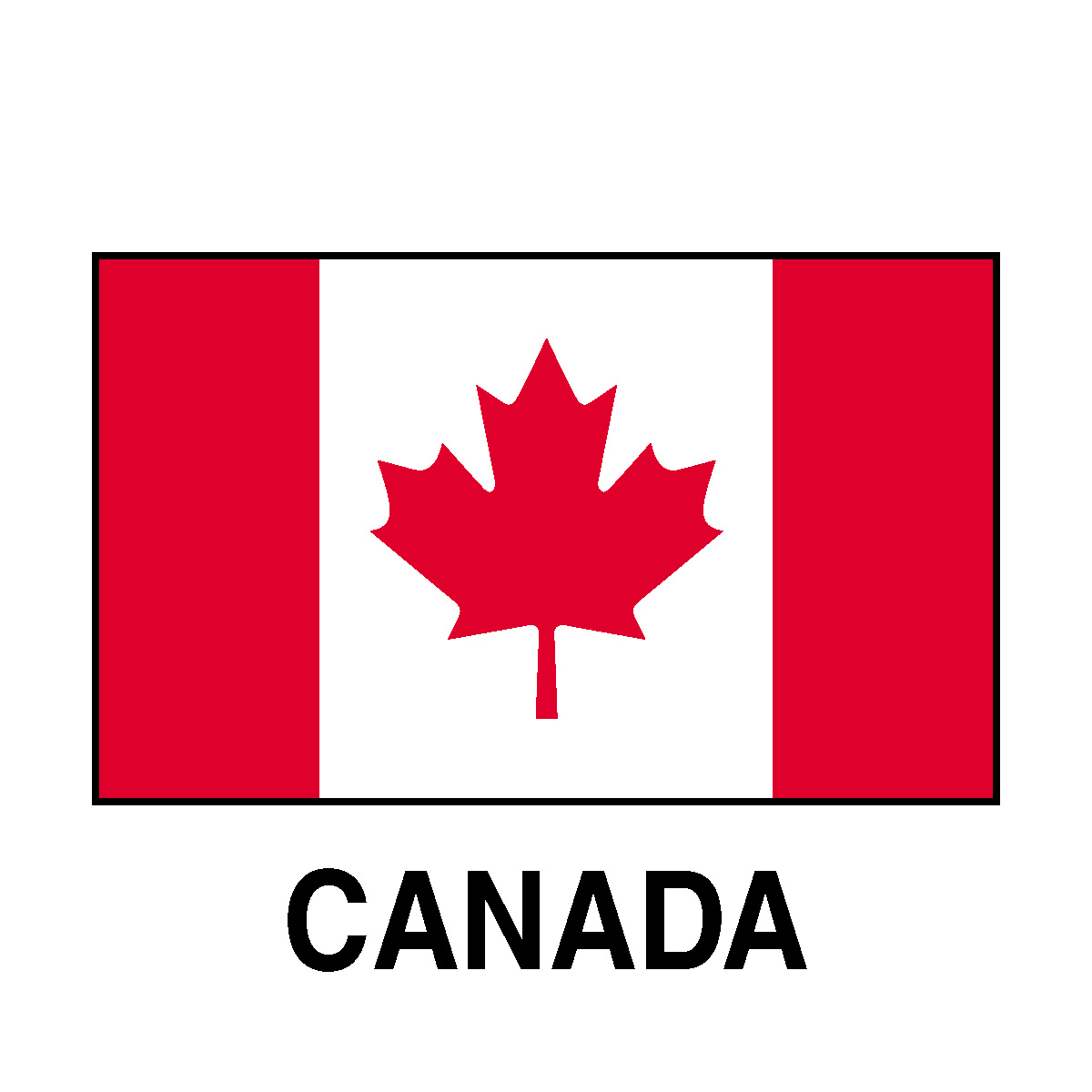 Canada flag clipart - WikiClipArt