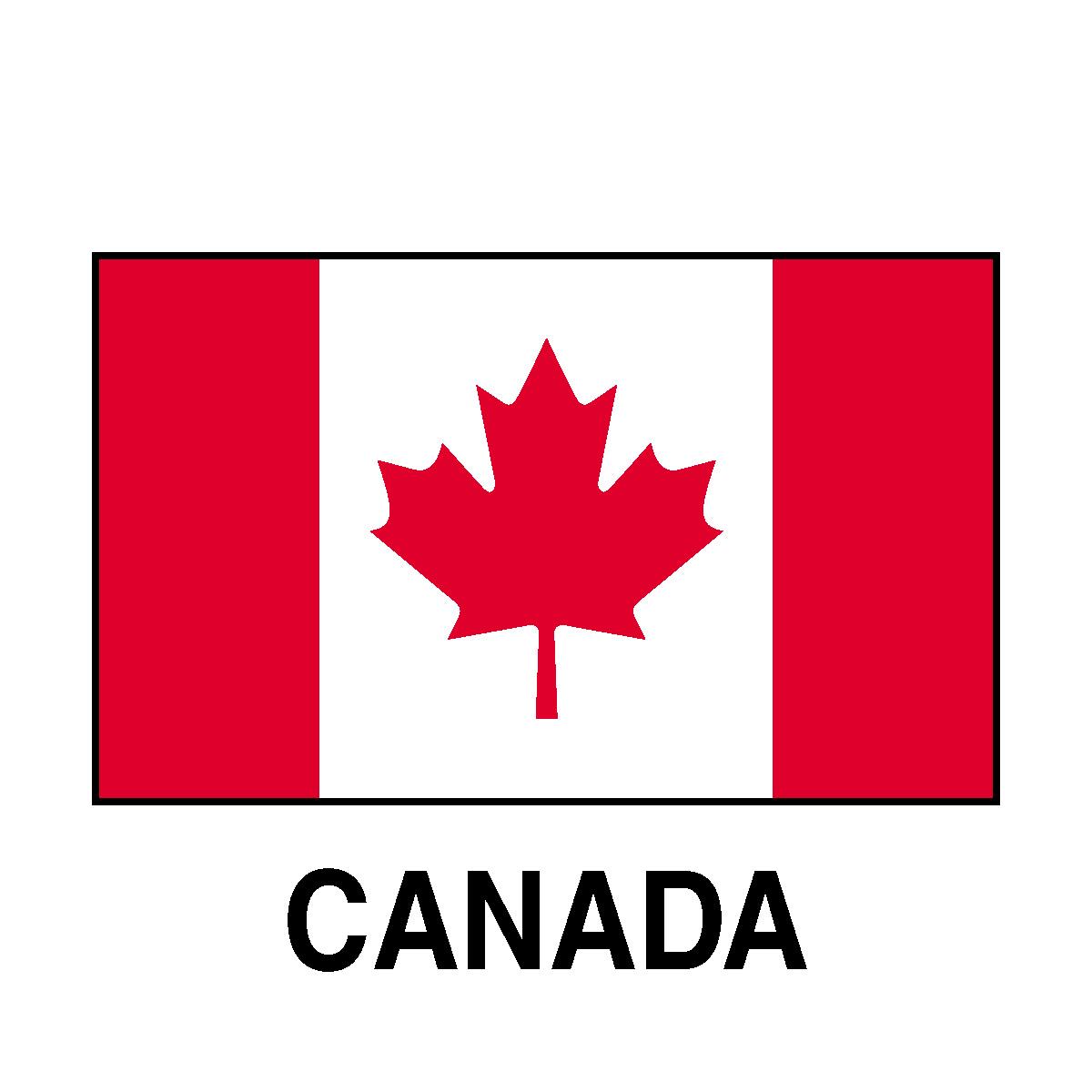 Canada flag clipart