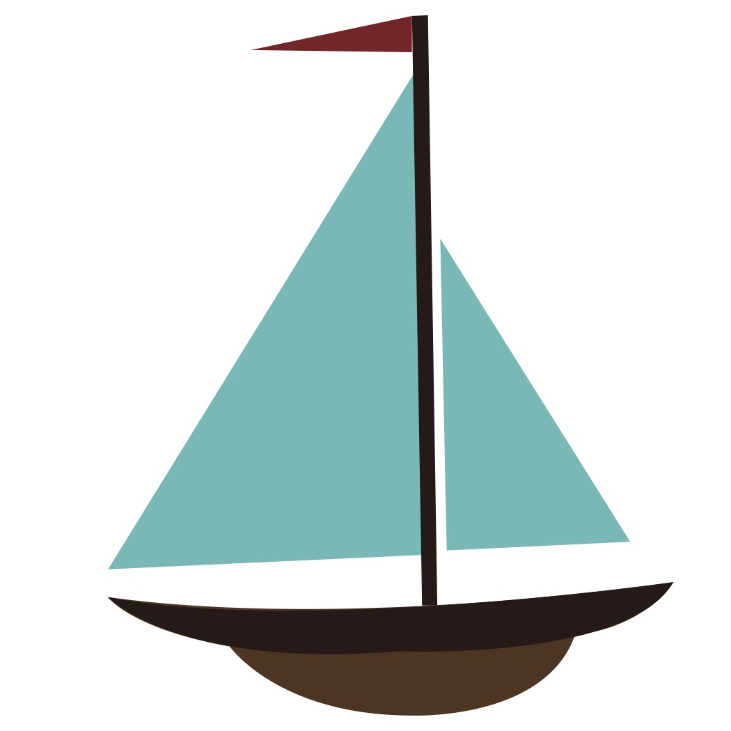 Cartoon sailboat clipart