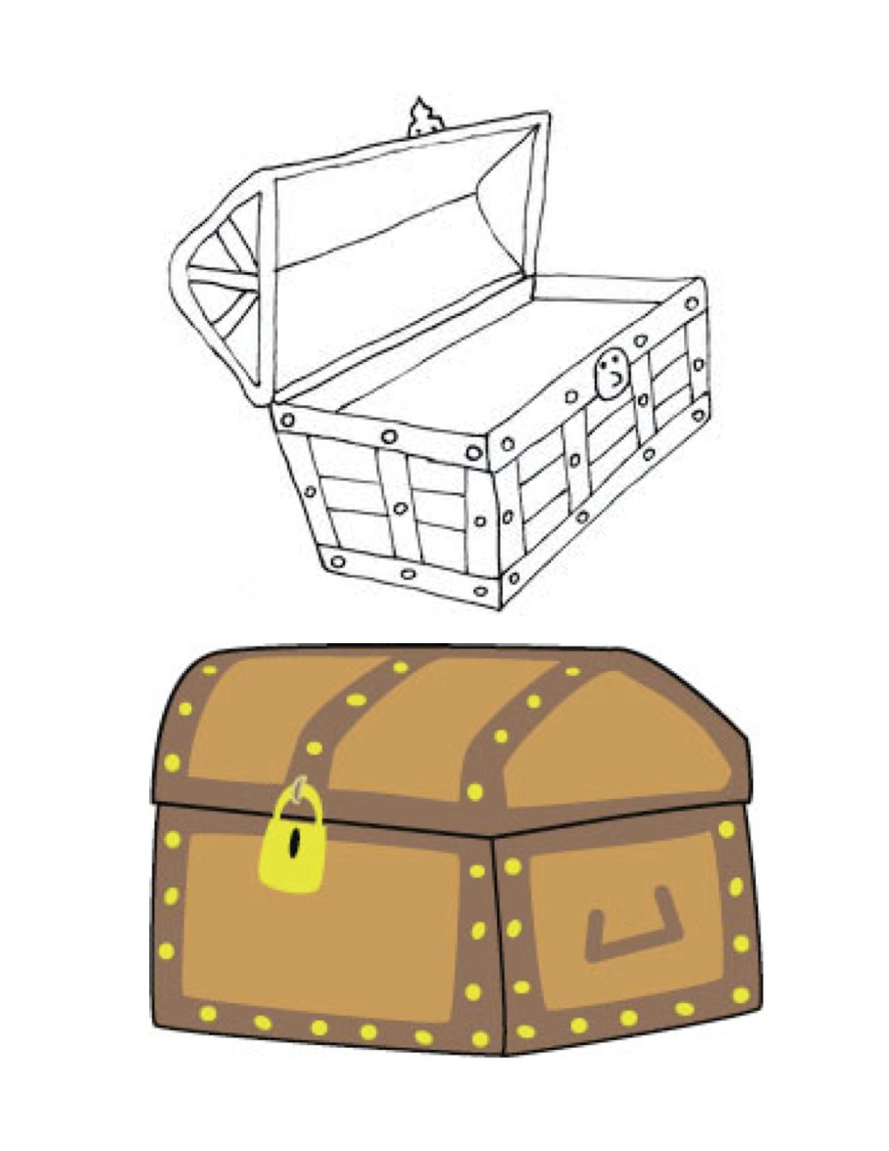Cartoon treasure chest clipart