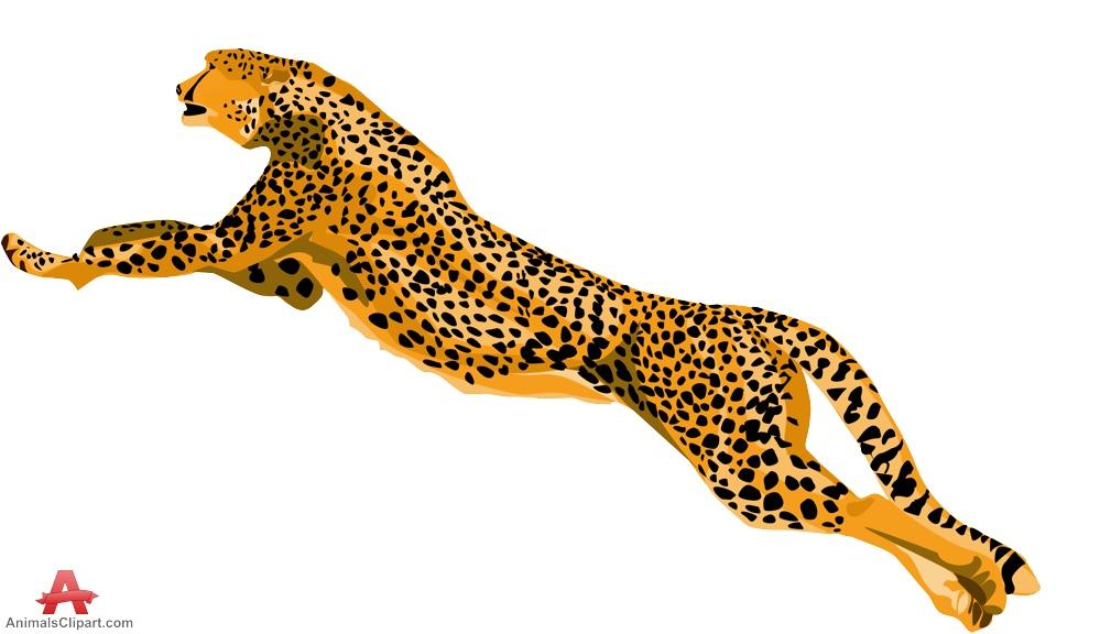 Cheetah clip art 2