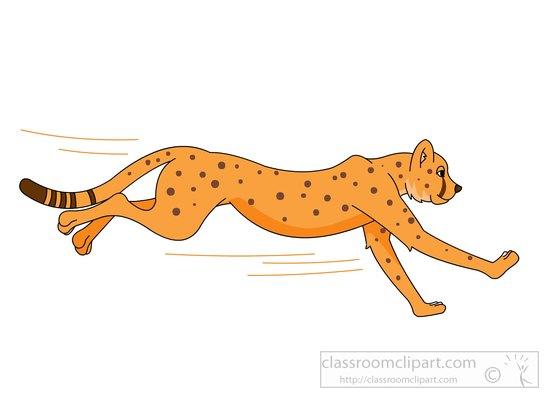 Cheetah clip art 4