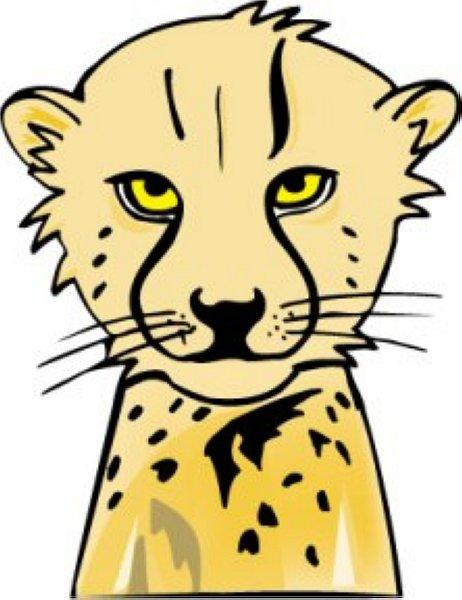 Cheetah clip art 6 free clipart images