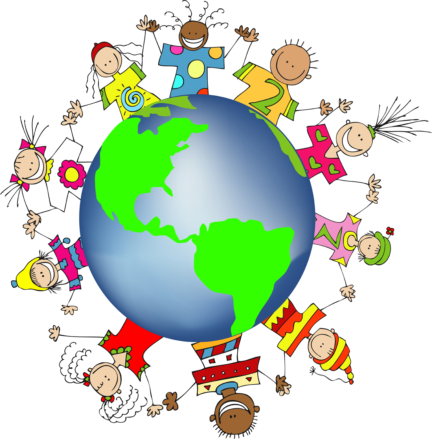 Children around the world clipart free
