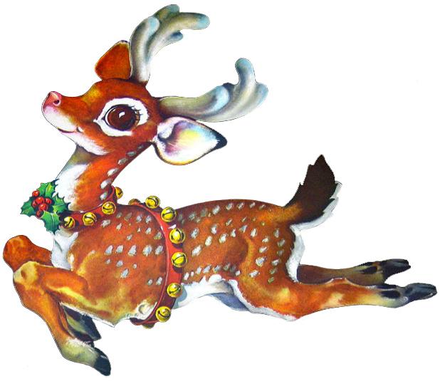 Christmas reindeer clipart 6