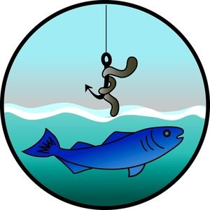 Clip art fishing and cartoon on
