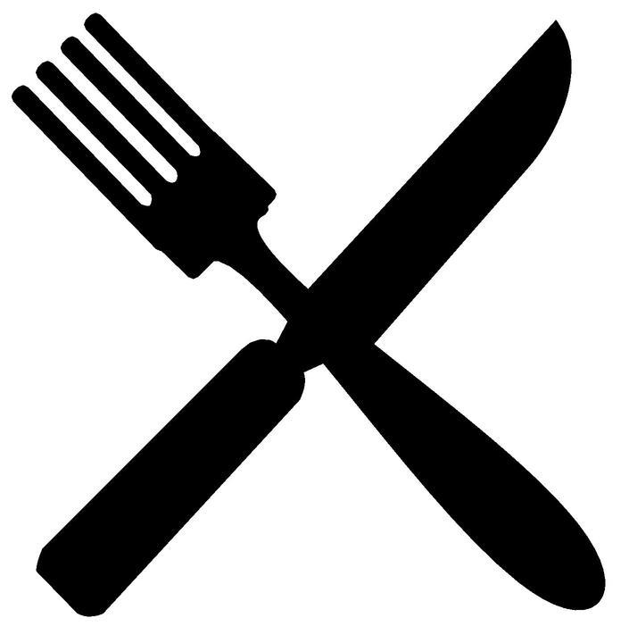Clip art fork knife plate clipart 2