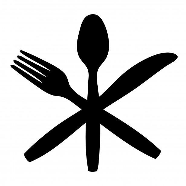 Clip art fork knife plate clipart 3