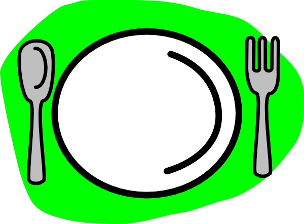 Clip art fork knife plate clipart 4