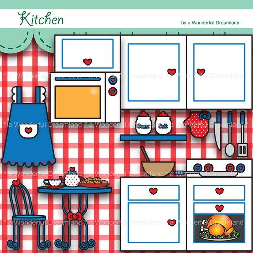 Clip art kitchen clipart 2