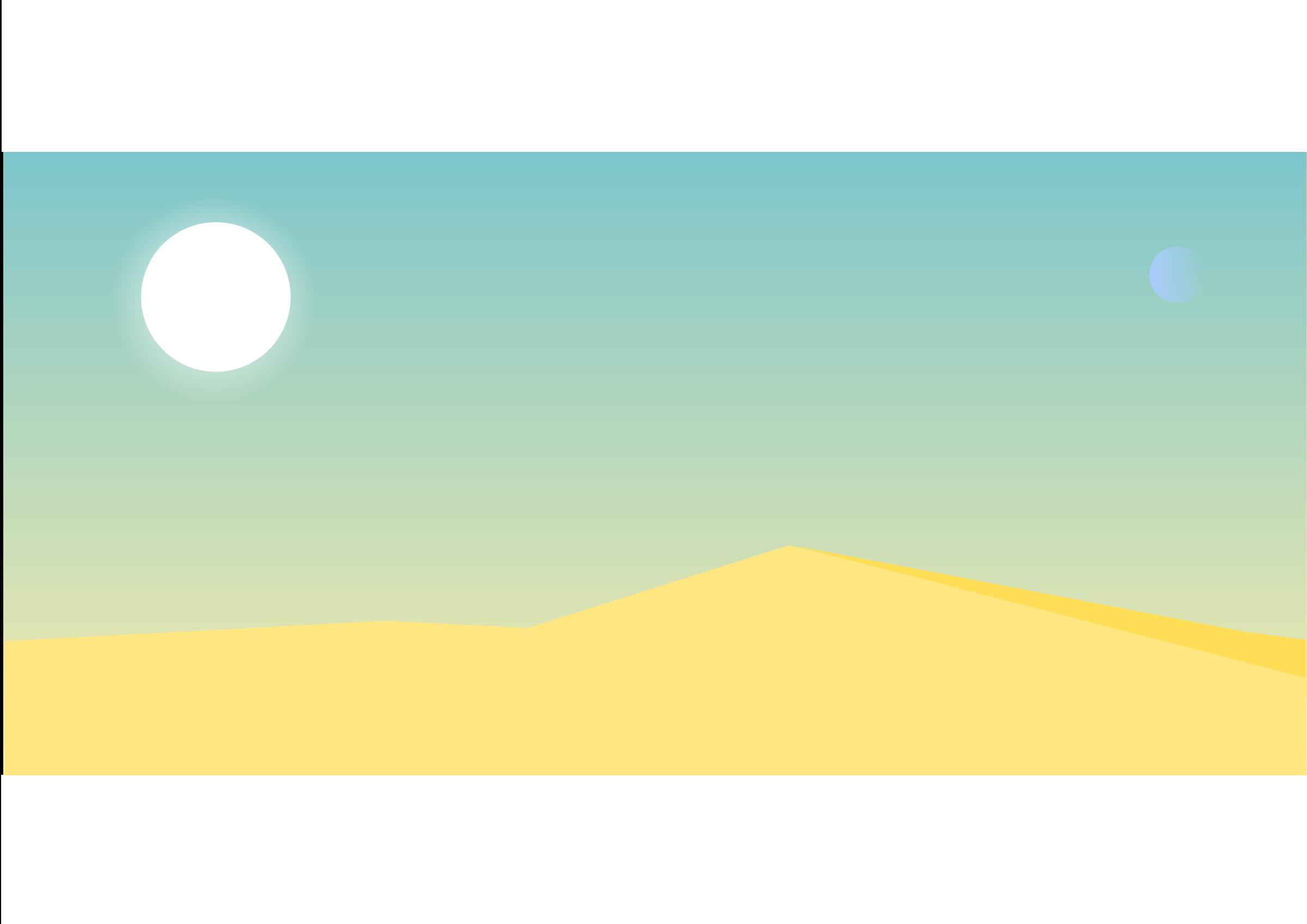 Clipart empty desert landscape