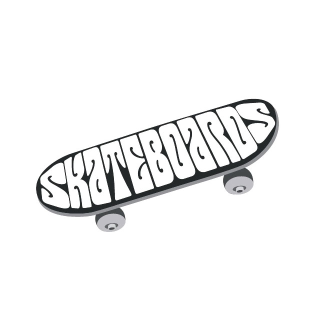 Clipart of skateboard clipart