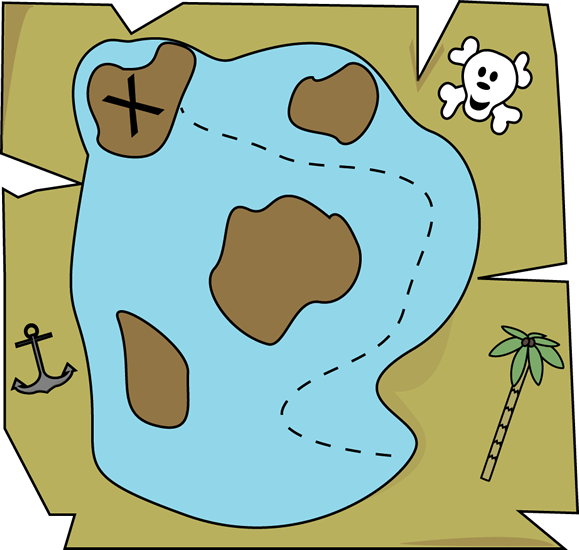 Clipart pirate map clipartfest