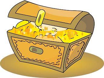 Closed treasure chest clipart 2