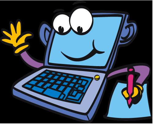 Computer cartoon laptopputer clipart